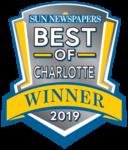 Badge from Sun Newspapers Best of Charlotte Winner 2019